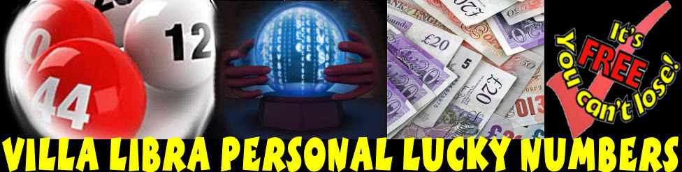 Villa Libra Personal  Lucky Dip Lottery Numbers